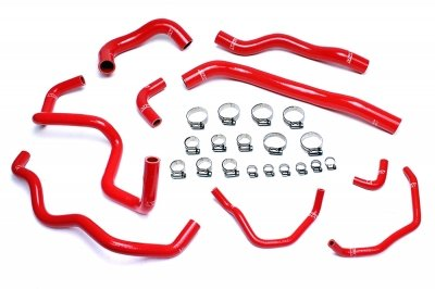 HPS 57-1513-RED Silicone Radiator and Heater Hose Kit Coolant