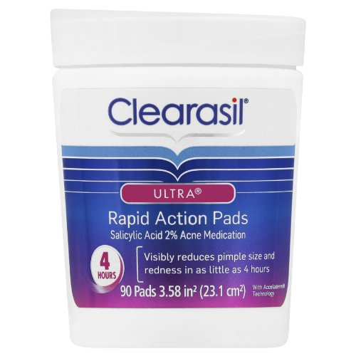 Clearasil Ultra Pore Cleansing Pads, 90-Count Jars (Pack of 3)