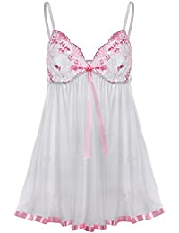 Sexy Babydoll Lingerie for Women Plus Size Halter Night Dress