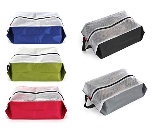 ags Waterproof Nylon for Women & Men,Shoe Tote bags for Sport Gym,5 PCS (Multicoloured) ()