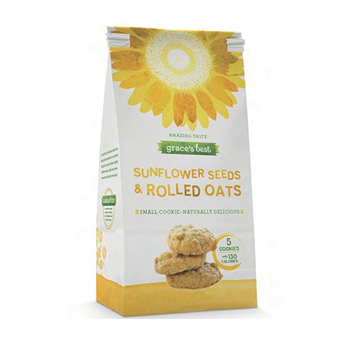 Grace's Best Sunflower Seeds and Rolled Oats Cookies - Made from Real, Quality Ingredients - 7 Ounce Bag Pack of 3 (Best Oats For Cookies)