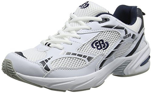 Bruetting Force, Unisex-Erwachsene Laufschuhe, Weiß (Weiss/Blau/Silber), 40 EU (6 Erwachsene UK)