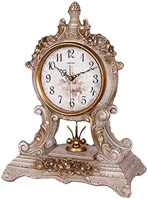 LXJ Reloj de Mesa Reloj, salón/Dormitorio Adornos de Mesa Retro ...