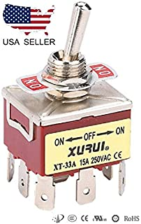 41A HEAVY DUTY 4PST ON-OFF TOGGLE SWITCH 20A 125V 15A 250V SPADE TERMINALS