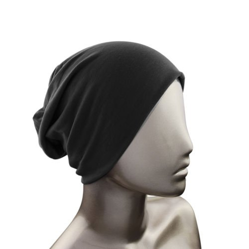 Knit Men's Women's Baggy Beanie Oversize Winter Hat Ski Slouchy Chic Cap Black color (With Bows Short Uggs)