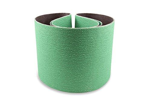 6 X 48 Inch 80 Grit Metal Grinding Ceramic Sanding Belts, Extra Long Life, 2 - Belts 6 Sanding X 48