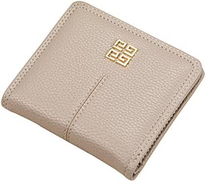 Women's Small Compact Bi-fold Leather Pocket Wallet Credit Card Holder Case with ID Card Window