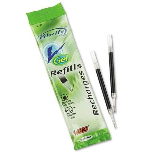 BIC America RRLCP21BK Refill for Gel Roller Ball, Medium, Black Ink, 2/Pack