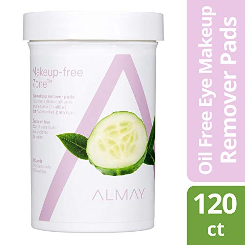 Almay Eye Makeup Remover Pads, Oil Free, Hypoallergenic, Free from Fragrance, 120 pads