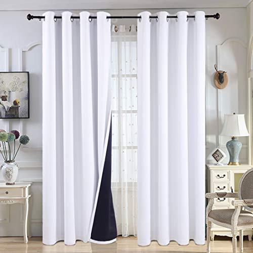 Balichun 2 Panels Blackout Curtains Thermal Insulated Solid