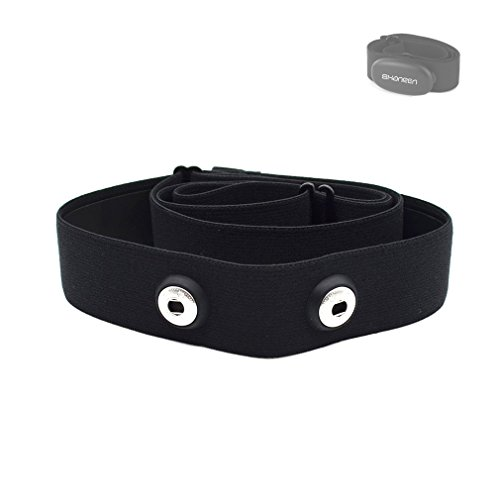 Adjustable Elastic Chest Strap, Universal Replacement Soft Belt for Shanren, Polar, Garmin, Wahoo Sport Running Heart Rate Monitor ()