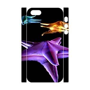 3D Bumper Plastic Customized Case Of Starfish for iPhone 5,5S