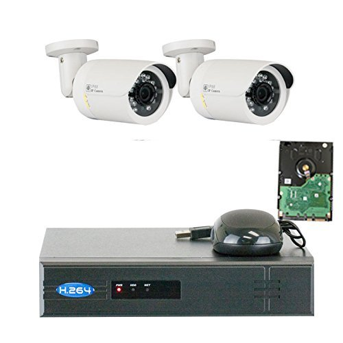GW Security VD2C4CH1337IP 4 Channel 1080P NVR Surveillance System with 2 x 1.3MP 960P Outdoor or Indoor Onvif PoE IP Security Camera 500GB Hard Drive [並行輸入品] B01N0WTD6E