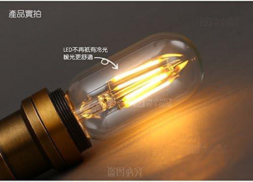 Injuicy Lighting 10PCS 4W Long Lasting Industrial Vintage T45 Edison LED Bulb E27 360 Degree Warm White