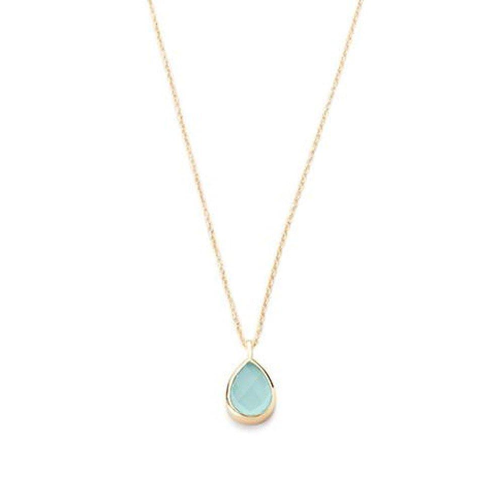 Nathis Aqua Chalcedony Pendant Necklace