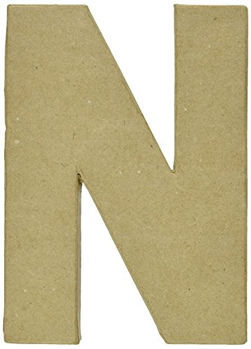 Darice Paper Mache Letter 8quot X51/2Letter N 2862N