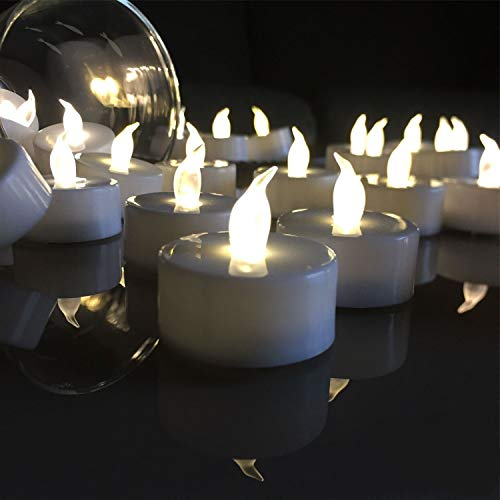 Tea Lights Candles,LED Tea Lights Candles, Colors Flameless Tea Lights,Steady Flameless Tealights, Long Lasting Battery Operated Fake Candles –Decoration for Party