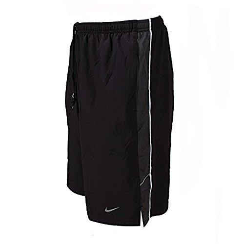 Nike Men's Three Quarter Colorburst Tights (Volt/Black, - Nike Quarter Three Pant