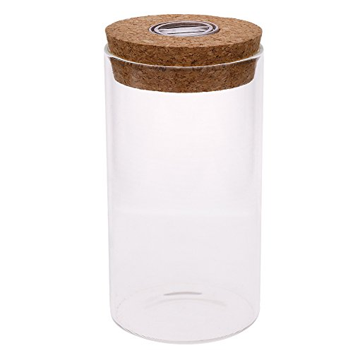 WXLAA 12cm Glass Bottle Jar Hydroponic Terrarium Container Light LED Cork Stopper (Seashell White Bottle Stopper)