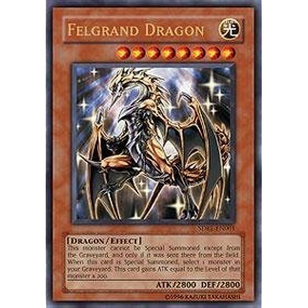 Yugioh Divine Dragon Lord Felgrand SR02-EN001 Ultra Rare 1st Edition