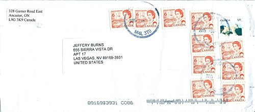Canada Cover 2015 with 11 Canadian Postage Stamps As Pictured
