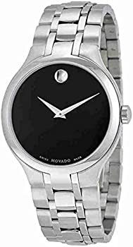 Movado Museum Black Museum Dial Stainless Steel Mens Watch
