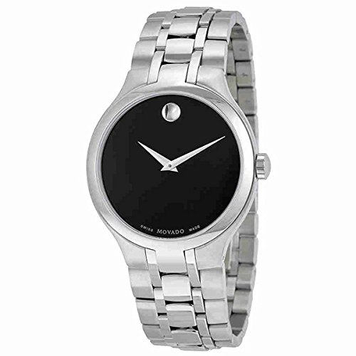- Movado Museum Black Museum Dial Stainless Steel Mens Watch 0606367