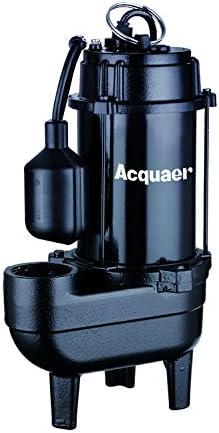 Acquaer 1/2 HP Durable Cast iron Sewage Pump10ft. power cord+Piggy back switch.
