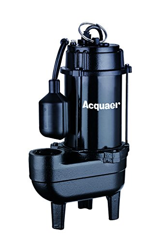 (Acquaer 3/4 HP Cast iron Sewage Pump+Piggy back switch)