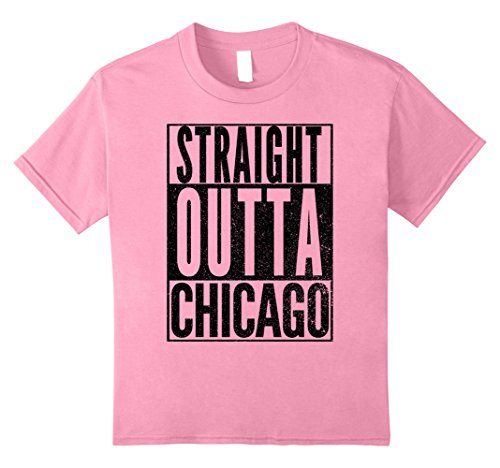 Kids STRAIGHT OUTTA CHICAGO ILLINOIS Halloween Costume T Shirt 8 (Chicago Costume Ideas)