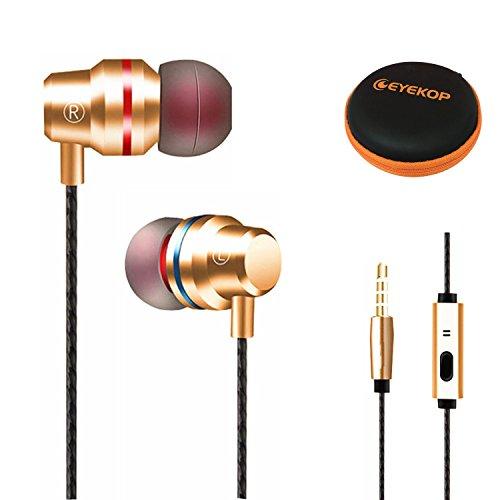 EYEKOP 3.5mm Jack HD Stereo Wired Earphones with Mic Metal M