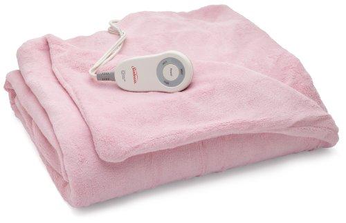 Sunbeam Microplush Heated Throw Pink Tsm8us R302 25a00