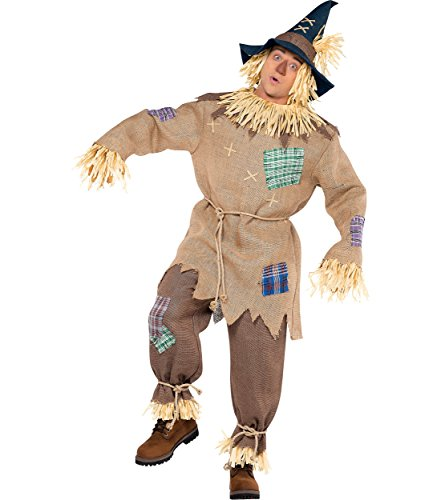 AMSCAN Mr. Scarecrow Halloween Costume for Men, Standard, with Included Accessories