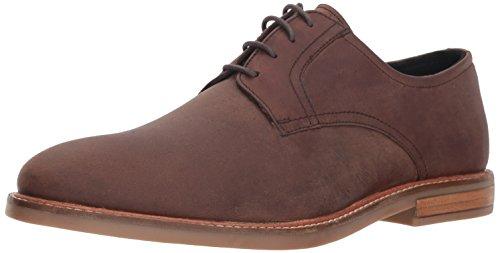 Ben Sherman Men's Birk Plain Toe Oxford, Brown Leather, 12 M US