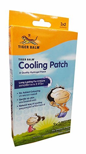 [Tiger Balm Cooling Patch, For children (more than 2 years of age) and adults, A Quality Hydrogel Patch, Long lasting for 8 hours. Size : 5 x 11 cm/ sheet (6 Sheets/ 1] (Soda Mini Costumes)
