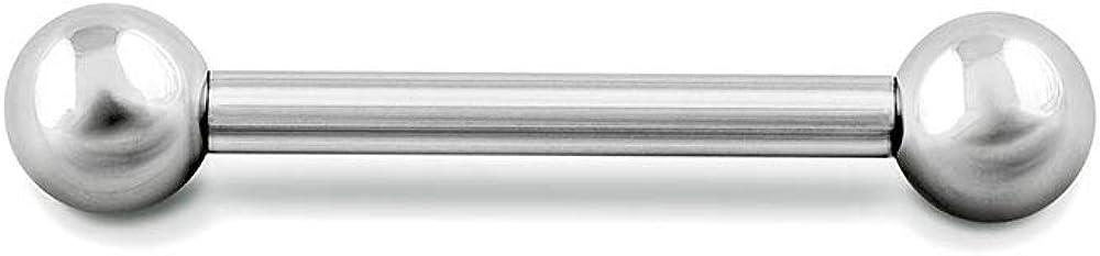 Painful Pleasures 14g Internally Threaded Titanium Straight Barbell — Pick Size — Price Per 1