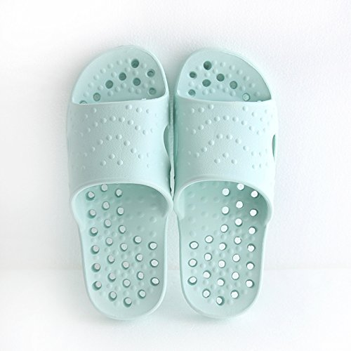 fankou The Bathroom Slippers Summer Female Indoor Exposed Bath Water Leaks and Deodorization and Stylish, Minimalist Cool Slippers Men and Women Anti-Slip,39-40, Sky Blue