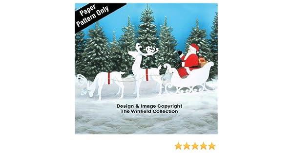 Large Santa Sleigh Reindeer Pattern Set