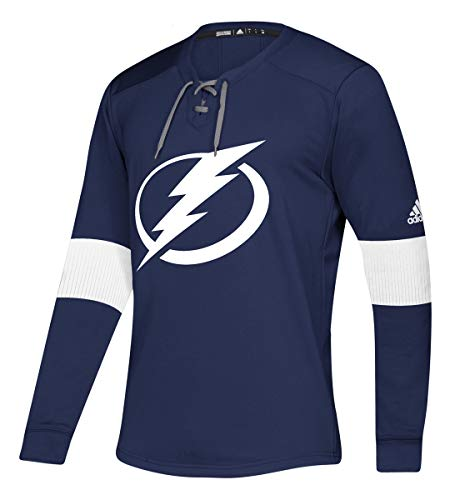 - adidas NHL Mens Platinum Long Sleeve Jersey Lightweight Sweatshirt (Large, Tampa Bay Lightning)
