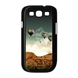 Samsung Galaxy S3 Cases Hot Air Balloons, Young Colorful Balloon Cases Jackalondon, {Black}