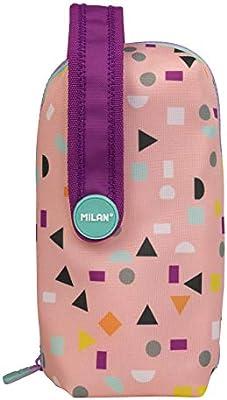 Milan 08872HBPB Kit 4 Estuches con Contenido Happy Bots Rosa, Única: Amazon.es: Oficina y papelería