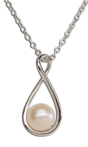 - Sterling Silver Cultured Drop Pearl Pendant Necklace (6mm)