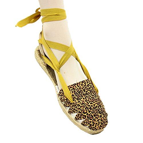 Alpargatas Leopardo con Suela de Goma y Yute - Leopardo, 31: Amazon.es: Zapatos y complementos