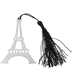 SQLang Eiffel Tower Metal Black Tassels Bookmark Hollow Design Wedding Party Gift Favor