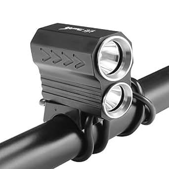 ThorFire Luz Delantera de Bicicleta, Luz de Bicicletas LED 800 Lumen, con 8800mAh 18650 baterías Recargable, para ciclismo y Otras Actividades al aire libre