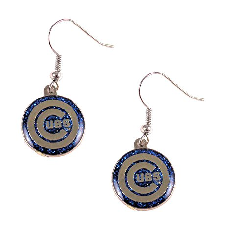 - MLB Chicago Cubs Glitter Dangler Earrings