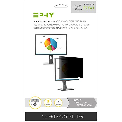 (EPHY Privacy Filter/Anti-Glare/Screen Protector for Laptop Tft Monitor Desktop Pc LCD Led Screen 27 Inch 16:10)
