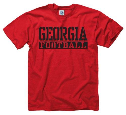 Agenda Red Stencil Football T-Shirt (Large ) (New Agenda Sport Tee)