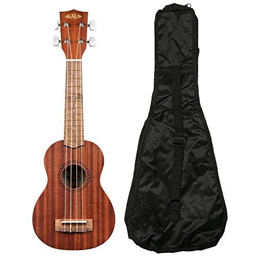 (Kala KA-15S Mahogany Soprano Ukulele with FREE Deluxe Stronghold brand soprano uke soft case gig bag)