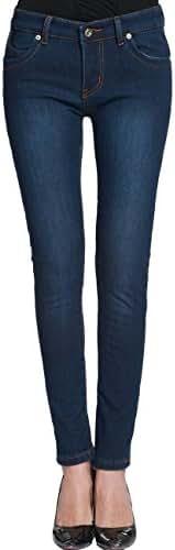 Camii Mia Women's Winter Slim Fit Fleece Jeans